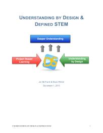 Understanding By Design & Defined STEM